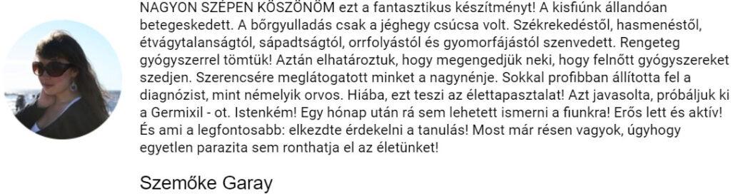 Szemoke Garay recenziója a Germixilről